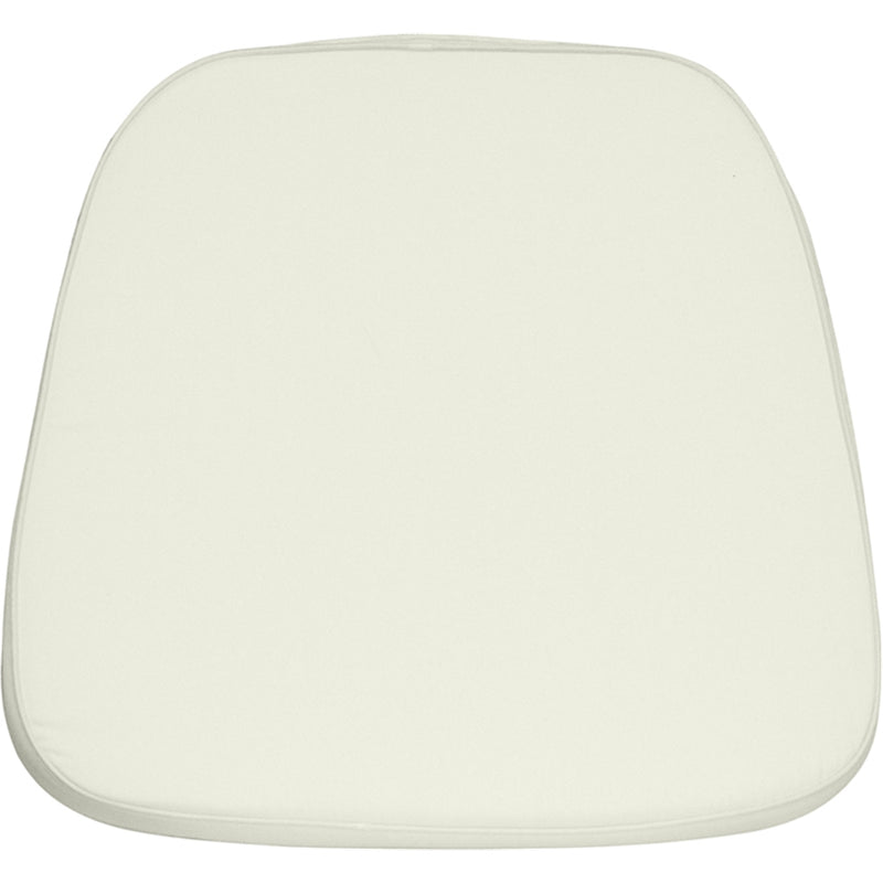 Soft Ivory Fabric Chiavari Chair Cushion - WHITE - Moda Seating Corp