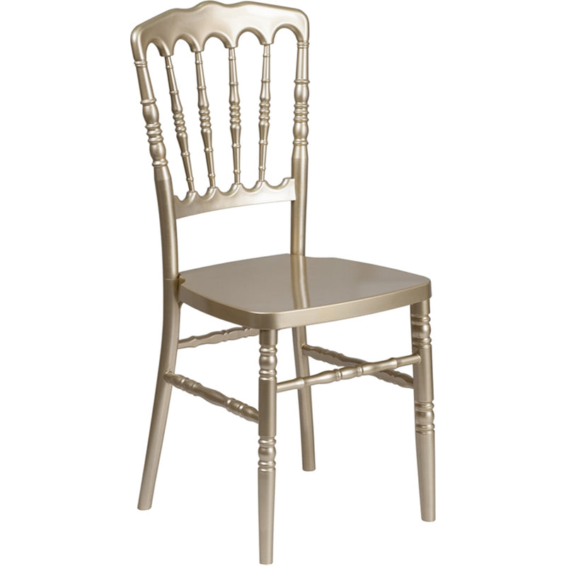 HERCULES Series Gold Resin Stacking Napoleon Chair-MON - Moda Seating Corp