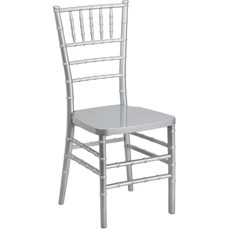 HERCULES PREMIUM Series Silver Resin Stacking Chiavari Chair
