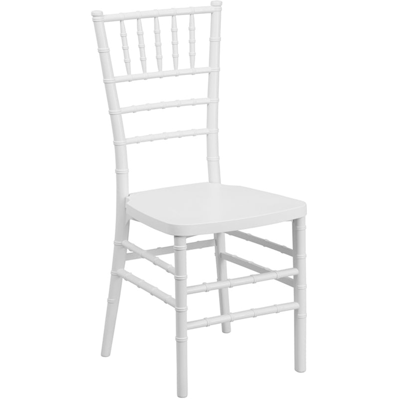 HERCULES PREMIUM Series White Resin Stacking Chiavari Chair