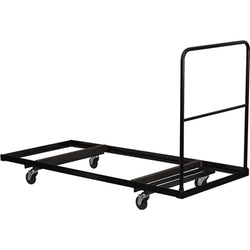 "Black Folding Table Dolly for 30""W x 72""D Rectangular Folding Tables"