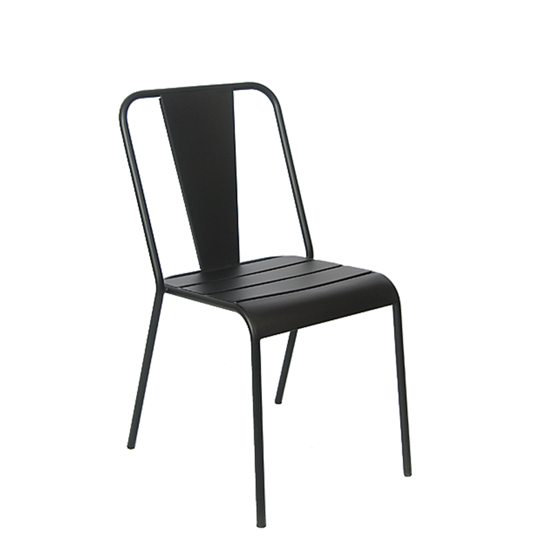 Black Iron Outdoor Restaurant Chair