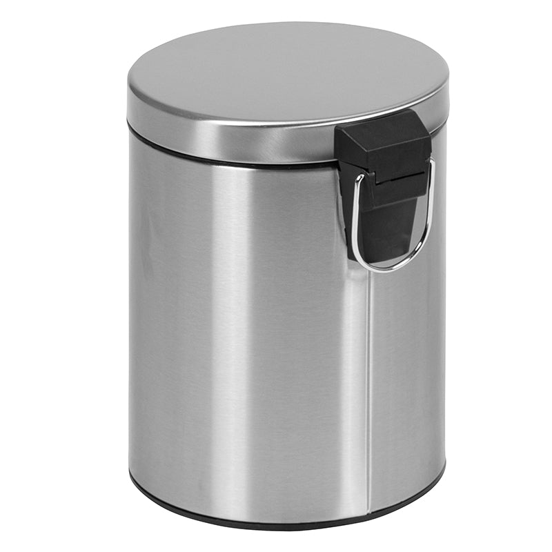Stainless Steel Fingerprint Resistant Soft Close, Step Trash Can - 5L (1.3 Gallons)