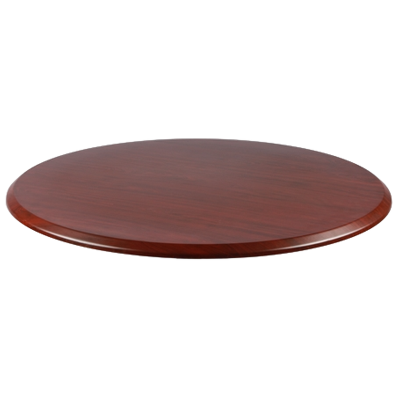 "Mahogany 24"" Round Indoor/ Outdoor Weather Resistant Restaurant Table Top - Moda Seating Corp"