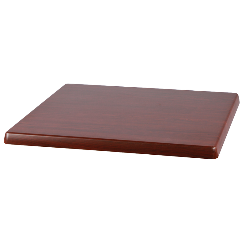"Mahogany 28"" x 28"" Square Indoor/ Outdoor Weather Resistant Restaurant Table Top - Moda Seating Corp"