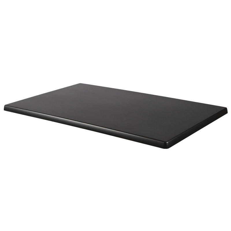 "BLACK 28"" x 44"" Indoor/ Outdoor Weather Resistant Restaurant Table Top - Moda Seating Corp"