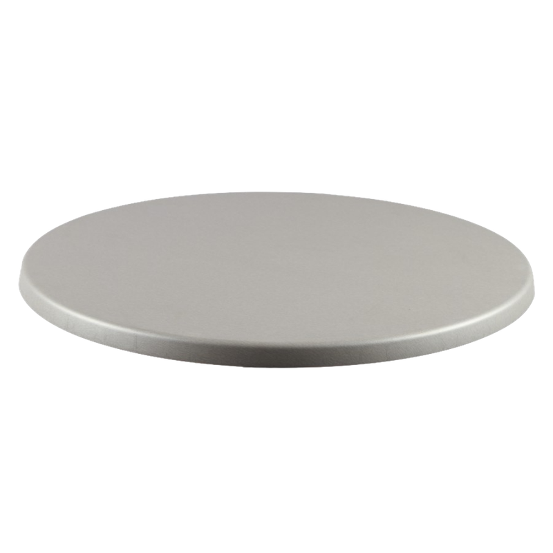 "BRUSHED SILVER 24"" Round Indoor/ Outdoor Weather Resistant Restaurant Table Top - Moda Seating Corp"