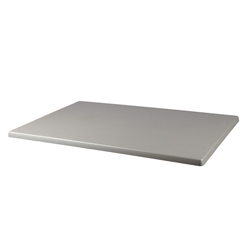 "BRUSHED SILVER 28"" x 44"" Indoor/ Outdoor Weather Resistant Restaurant Table Top - Moda Seating Corp"