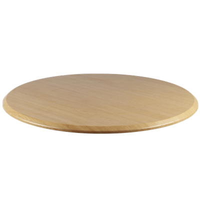 "LIGHT OAK 24"" Round Indoor/ Outdoor Weather Resistant Restaurant Table Top - Moda Seating Corp"