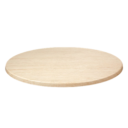 "TRAVERTINE 36"" Round Indoor/ Outdoor Weather Resistant Restaurant Table Top"