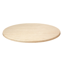 "TRAVERTINE 42"" Round Indoor/ Outdoor Weather Resistant Restaurant Table Top"