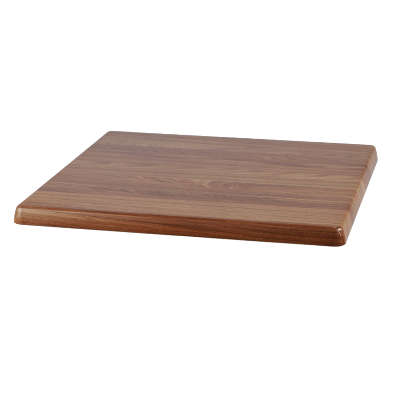 "TEAK 24"" x 24"" Indoor/ Outdoor Weather Resistant Restaurant Table Top - Moda Seating Corp"
