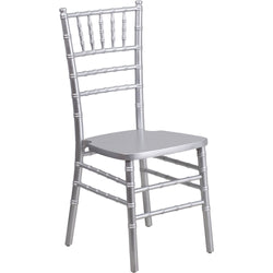 HERCULES Series Silver Wood Chiavari Chair