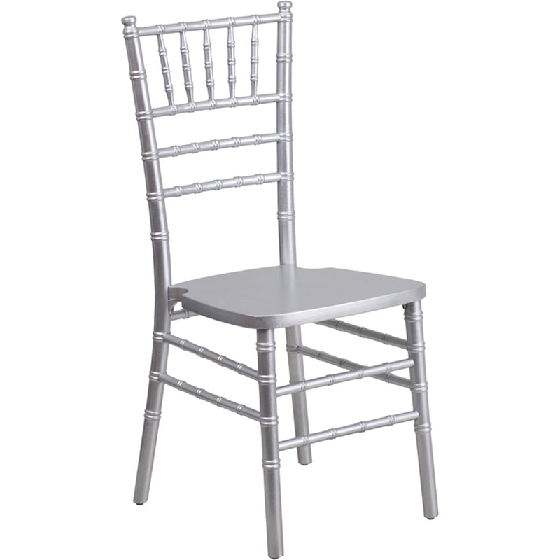HERCULES Series Silver Wood Chiavari Chair - Moda Seating Corp