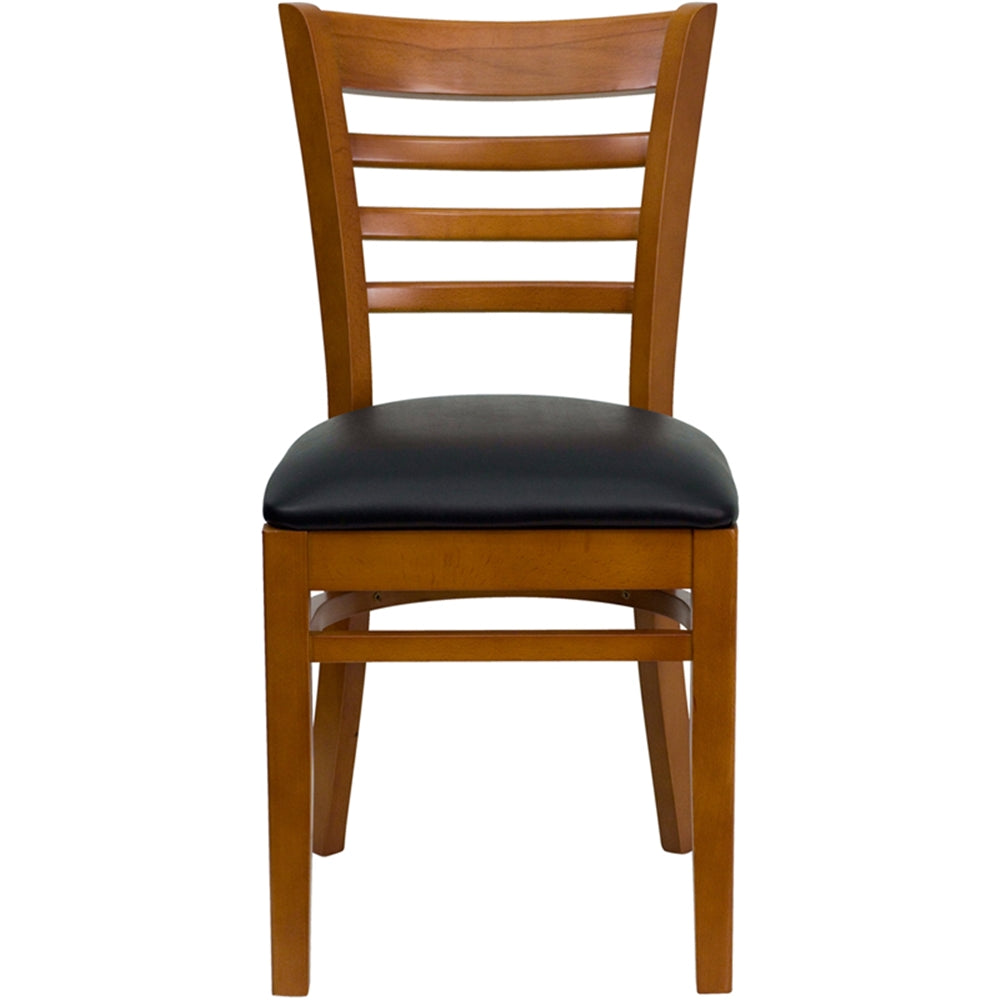 HERCULES Series Ladder Back Cherry Wood Restaurant Chair