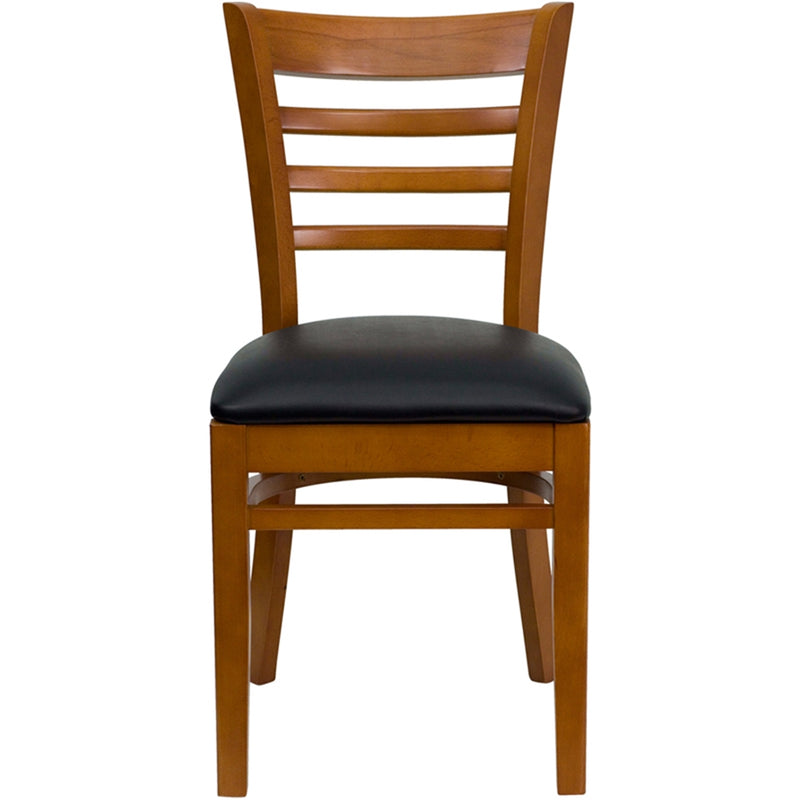 HERCULES Series Ladder Back Cherry Wood Restaurant Chair - Moda Seating Corp