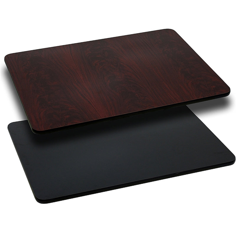 "30"" x 60"" Rectangular Table Top with Black or Mahogany Reversible Laminate Top - Moda Seating Corp"