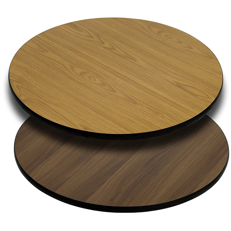 "42"" Round Table Top with Natural or Walnut Reversible Laminate Top - Moda Seating Corp"