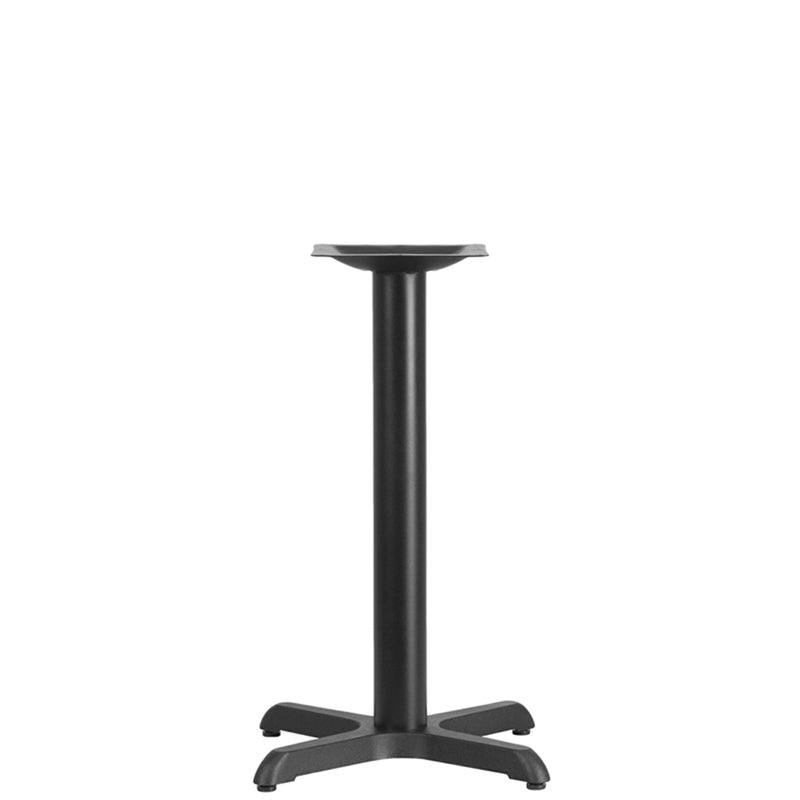 "22"" x 22"" Restaurant Table X-Base with 3"" Dia. Table Height Column"