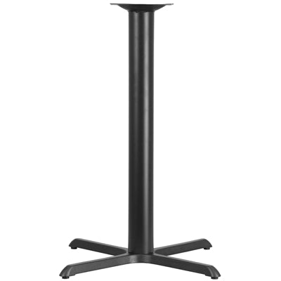 "33"" x 33"" Restaurant Table X-Base with 4 Dia. Bar Height Column - Moda Seating Corp"