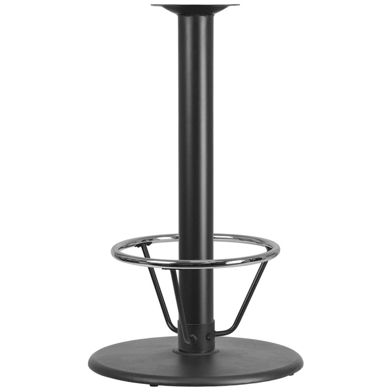 "24"" Round Restaurant Table Base with 4"" Dia. Bar Height Column and Foot Ring - Moda Seating Corp"