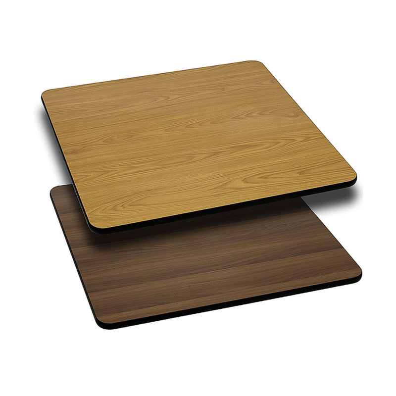 "24"" Square Table Top with Natural or Walnut Reversible Laminate Top - Moda Seating Corp"