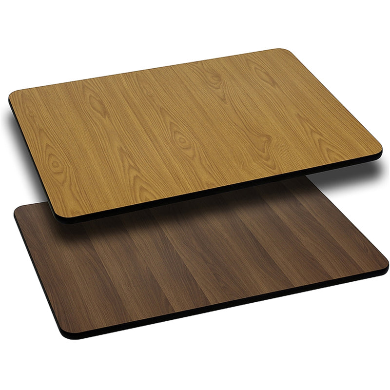 "30"" x 60"" Rectangular Table Top with Natural or Walnut Reversible Laminate Top - Moda Seating Corp"