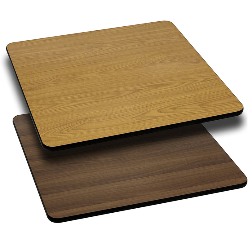 "42"" Square Table Top with Natural or Walnut Reversible Laminate Top - Moda Seating Corp"