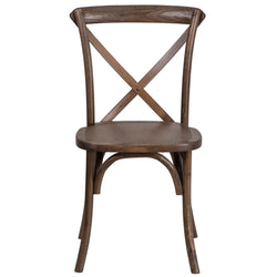 HERCULES Series Stackable Early American Wood Cross Back Chair - Moda Seating Corp
