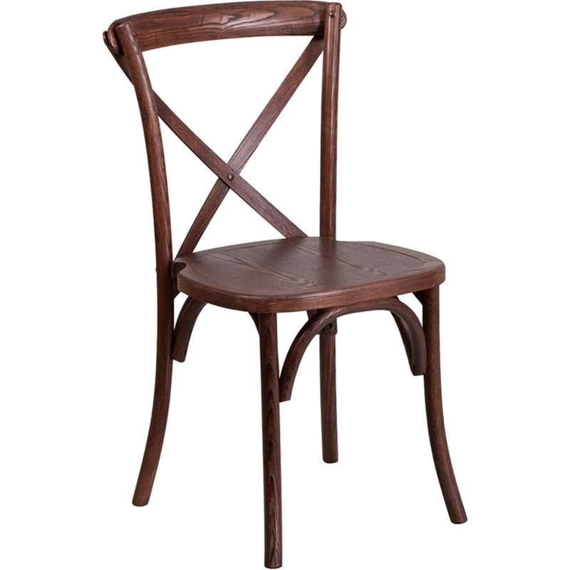 HERCULES Series Stackable Mahogany Wood Cross Back Chair - Moda Seating Corp