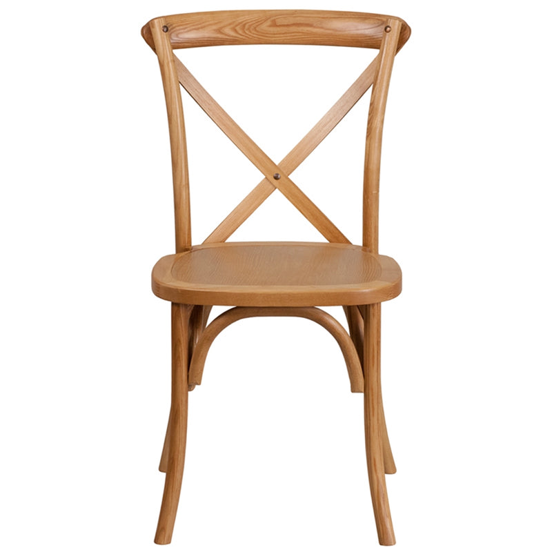 HERCULES Series Stackable Oak Wood Cross Back Chair - Moda Seating Corp
