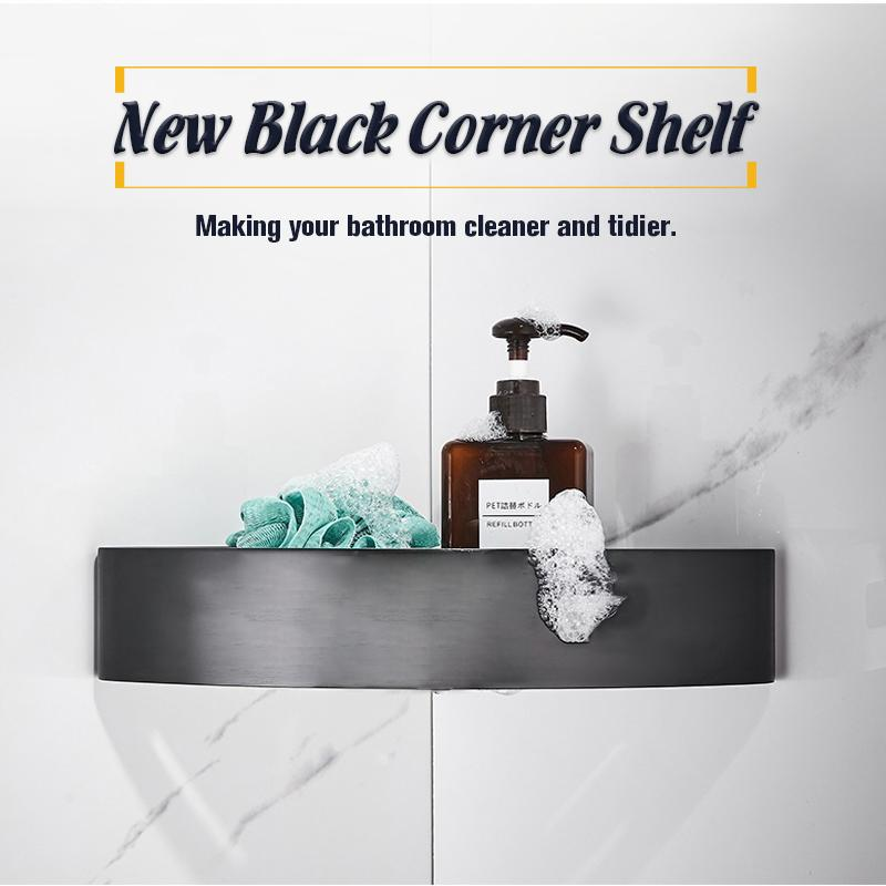 New Black Corner Shelf
