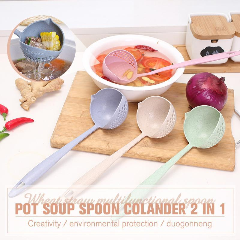 Pot Soup Spoon Colander 2 in 1