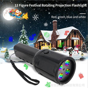 Flashlight Music Projector Light