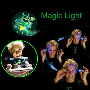 Holographic Projection Magic Finger Light Toy