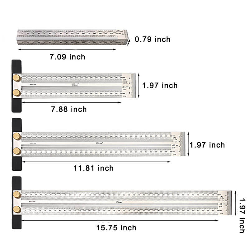Two Shapes Precision Woodworking Ruler