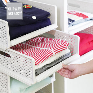 Multi-Function Collapsible Plastic Drawer Storage Organizer Basket