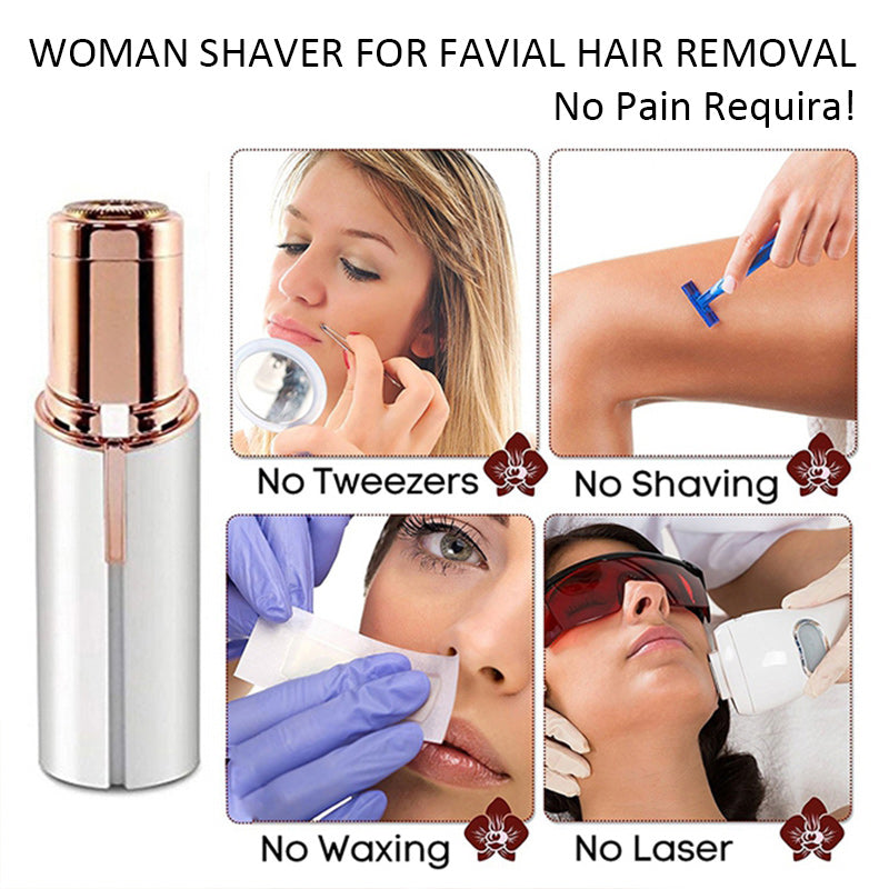 Mini Lipstick Electric Facial Hair Removal Shaver