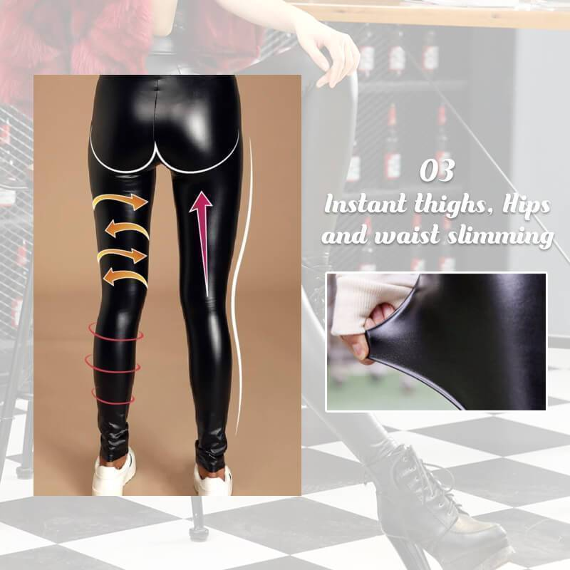 S-Shaped Leggings With Fleece Insert