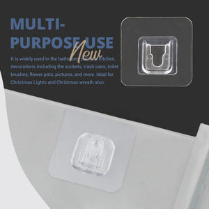 (FACTORY OUTLET) (50% OFF!!) Double-sided Adhesive Wall Hooks