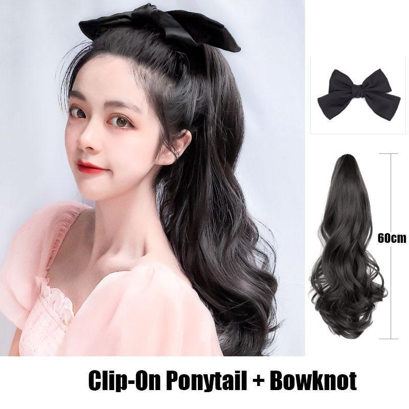 Bowknot Clip-On Ponytail