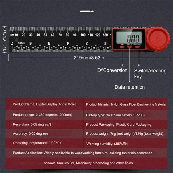 Two-In-One Digital Angle Finder