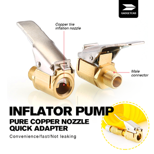 Inflator Pump Pure Copper Nozzle Quick Adapter