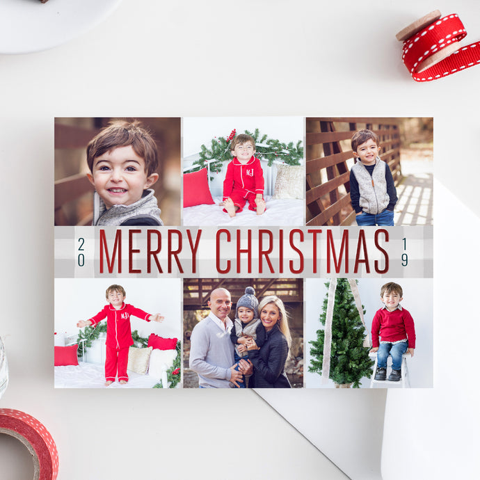 FOIL Modern Christmas Holiday Card