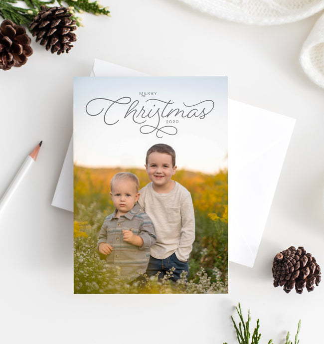 Christmas Script Holiday Card
