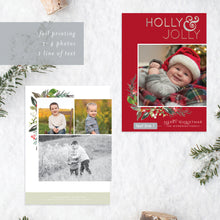 Load image into Gallery viewer, FOIL Holly Jolly Holiday Card