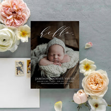 Load image into Gallery viewer, Hello Elegant Birth Announcement