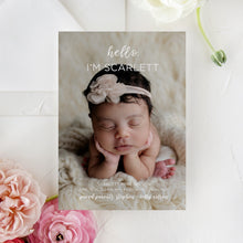 Load image into Gallery viewer, Hello Modern Birth Announcement