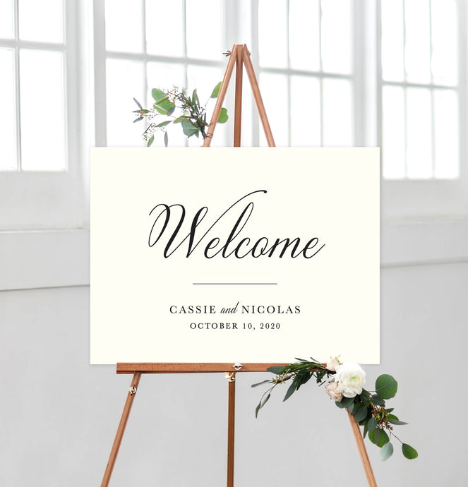 Cassie Welcome Sign