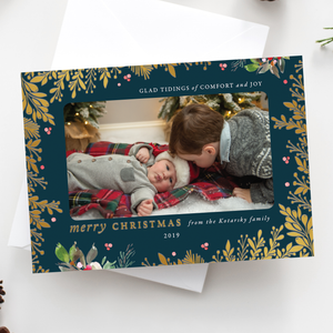 FOIL Christmas Groove Holiday Card